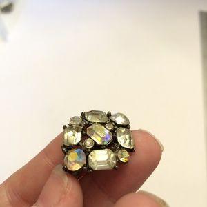 Vintage Jewelry - Vintage Cut Crystal Brooch
